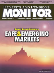 Benefits and Pensions Monitor - August 2007